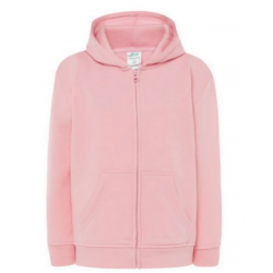 Sweat zippé à capuche enfant rose
