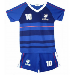 Ensemble maillot de football équipe de France n°10 enfant