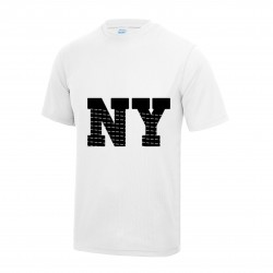 Tee shirt manches courtes New York enfant blanc