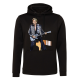 Sweat capuche Johnny Hallyday homme noir