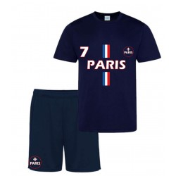 Ensemble short et maillot de foot Paris marine enfant