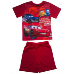 Pyjama court Cars Disney rouge